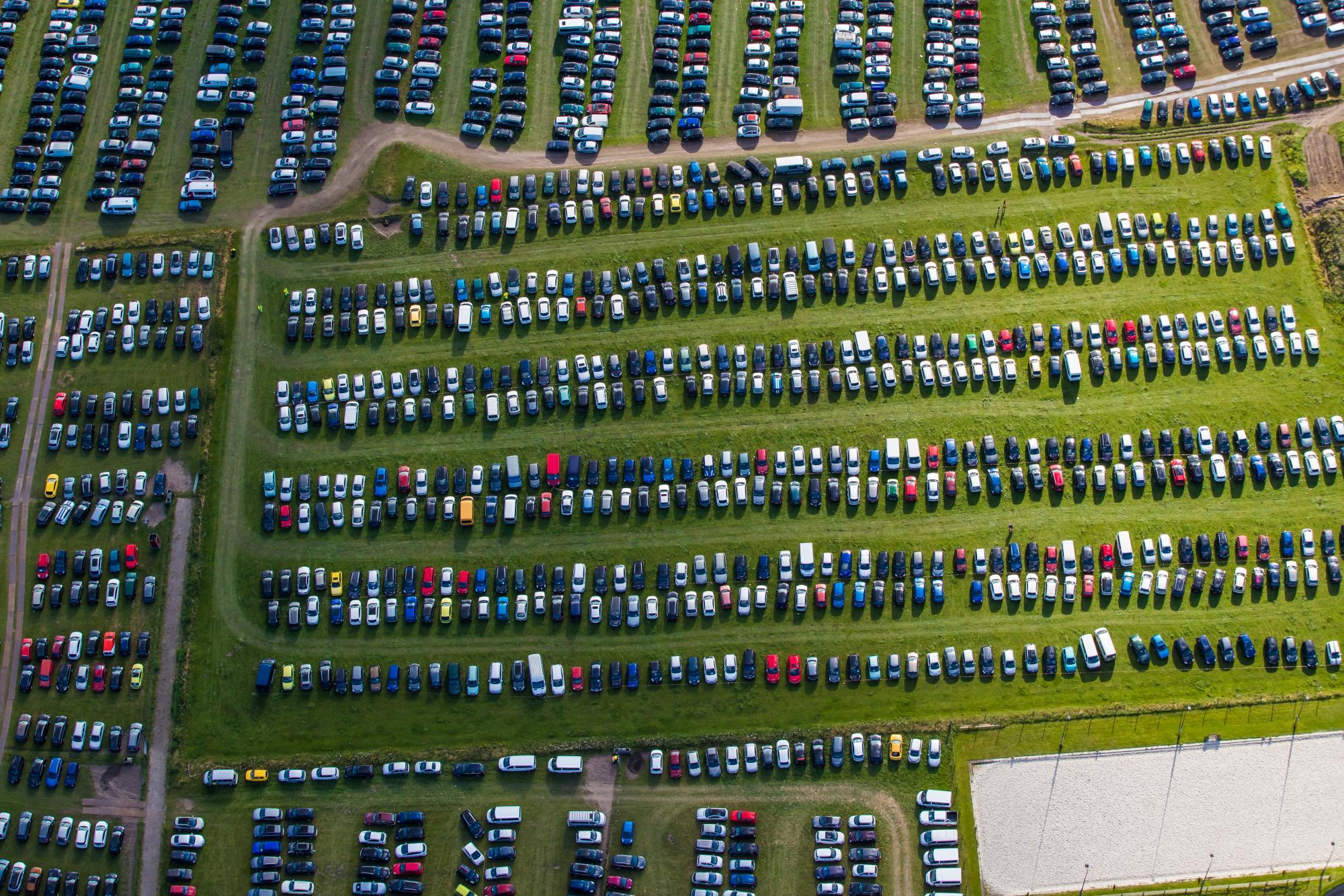 Foto geparkeerde auto's